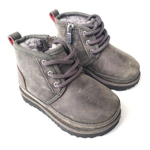 UGG Neumal toddler gray fur lined boots